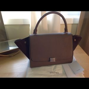 Celine Trapeze brown leather bag